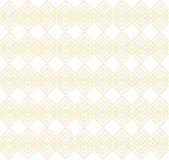Teste padrão sem emenda de quadrados dourados no fundo branco Teste padrão geométrico elegante Fotos de Stock Royalty Free