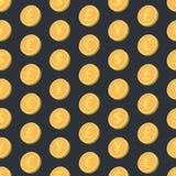 Teste padrão sem emenda de queda das moedas Fotografia de Stock