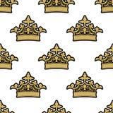 Teste padrão sem emenda de real dourado Fotos de Stock Royalty Free