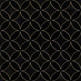 Teste padrão sem emenda de sobreposição dos círculos do luxo preto de veludo imagens de stock