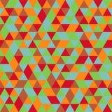 Teste padrão sem emenda de triângulos multicoloured Imagens de Stock