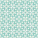 Teste padr?o sem emenda de turquesa do vetor com figuras florais, cruzes, quadrados, c?rculos ilustração royalty free