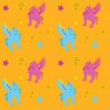 Teste padrão sem emenda de Unicorn Pegasus Imagem de Stock