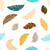 Teste padrão sem emenda de voo dos feathes abstratos ilustração stock
