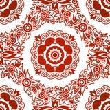 Teste padrão sem emenda decorativo com flores. ilustração stock
