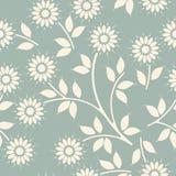 Teste padrão sem emenda decorativo com flores e folhas da camomila Fotos de Stock
