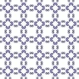 Teste padrão sem emenda decorativo Cores azuis e brancas Moldede EndlessFotos de Stock
