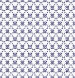 Teste padrão sem emenda decorativo Cores azuis e brancas Moldede EndlessImagem de Stock
