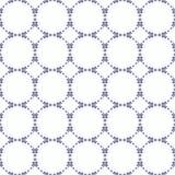 Teste padrão sem emenda decorativo Cores azuis e brancas Moldede EndlessImagens de Stock Royalty Free