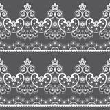 Teste padrão sem emenda decorativo do laço - projeto repetitivo do emrboidery do laço do vetor, arte retro do casamento no branco ilustração do vetor