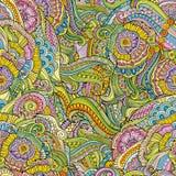 teste padrão sem emenda decorativo floral Fotos de Stock Royalty Free