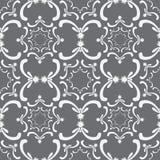 Teste padrão sem emenda decorativo Molde do vintage Elementos do branco da curva Fotos de Stock