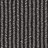 Teste padrão sem emenda desenhado mão Fundo geométrico abstrato da telha em preto e branco Linha à moda estrutura da garatuja do  Fotografia de Stock Royalty Free