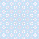 Teste padrão sem emenda diferente da cor pastel do bebê ilustração stock
