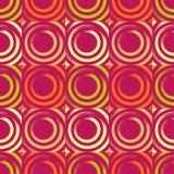 Teste padrão sem emenda do às bolinhas Círculos no quadrado Choque manual brushwork Textura do garrancho Fotos de Stock