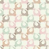 Teste padrão sem emenda do às bolinhas Círculos no quadrado Choque manual brushwork Textura do garrancho Imagem de Stock