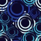 Teste padrão sem emenda do às bolinhas Círculos no quadrado Choque manual brushwork Textura do garrancho Fotos de Stock Royalty Free