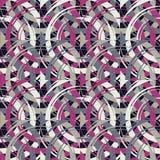 Teste padrão sem emenda do às bolinhas Círculos no quadrado Choque manual brushwork Textura do garrancho Foto de Stock