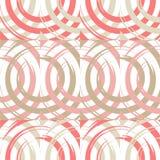 Teste padrão sem emenda do às bolinhas Círculos no quadrado Choque manual brushwork Textura do garrancho Fotografia de Stock Royalty Free