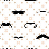Teste padrão sem emenda do às bolinhas do bigode do vetor Imagem de Stock Royalty Free