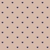 Teste padrão sem emenda do às bolinhas dos corações Ilustração Royalty Free