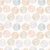 Teste padrão sem emenda do às bolinhas pastel da garatuja, fundo Imagem de Stock Royalty Free