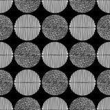 Teste padrão sem emenda do às bolinhas Pontos e textura das listras ilustração do vetor