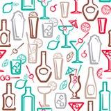 Teste padrão sem emenda do álcool Imagens de Stock