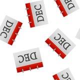 Teste padrão sem emenda do ícone de dezembro do mês de calendário em um fundo branco ilustração do vetor