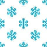 Teste padrão sem emenda do ícone liso azul do floco de neve ilustração do vetor