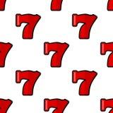 Teste padrão sem emenda do ícone liso do casino sete Fotos de Stock Royalty Free