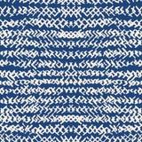 Teste padrão sem emenda do índigo da tintura do laço Cópia japonesa do shibori do vetor ilustração royalty free