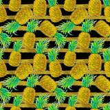 Teste padrão sem emenda do abacaxi Imagem de Stock