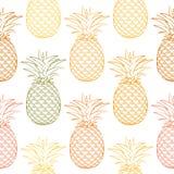 Teste padrão sem emenda do abacaxi maduro colorido Foto de Stock Royalty Free