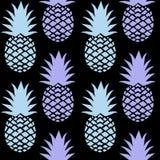 Teste padrão sem emenda do abacaxi para fundos da tela ou do papel de parede de matéria têxtil ilustração do vetor