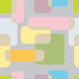 teste padrão sem emenda do abstrakt no fundo cinzento Llustration do vetor Imagens de Stock