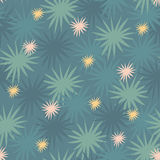 Teste padrão sem emenda do alargamento instantâneo abstrato floral estrelado Ilustração Royalty Free