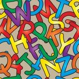 Teste padrão sem emenda do alfabeto ilustração stock