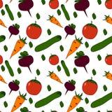 Teste padrão sem emenda do alimento biológico Foto de Stock Royalty Free
