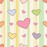 Teste padrão sem emenda do amor Foto de Stock Royalty Free