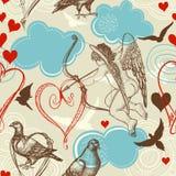 Teste padrão sem emenda do amor Imagens de Stock Royalty Free