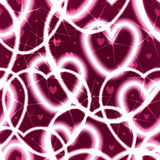 Teste padrão sem emenda do amor claro do coração Imagens de Stock