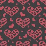 Teste padrão sem emenda do amor com corações cor-de-rosa Foto de Stock Royalty Free