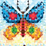 Teste padrão sem emenda do amor da borboleta geométrica Fotos de Stock Royalty Free
