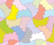 Teste padrão sem emenda do amor da borboleta geométrica ilustração do vetor