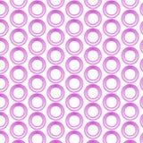 Teste padrão sem emenda do anel cor-de-rosa ilustração stock