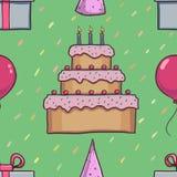 Teste padrão sem emenda do aniversário Fotos de Stock Royalty Free