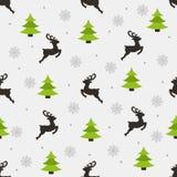Teste padrão sem emenda do ano novo em um fundo cinzento ilustração royalty free
