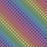 Teste padrão sem emenda do arco-íris de círculos coloridos em Grey Backdrop ilustração stock