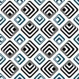 Teste padrão sem emenda do backgound dos quadrados listrados Fotografia de Stock Royalty Free